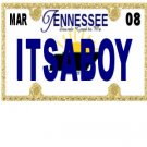 30 TENNESSEE License Plate BOY Baby Shower Candy Bar Wrappers Nugget Labels Party Favors