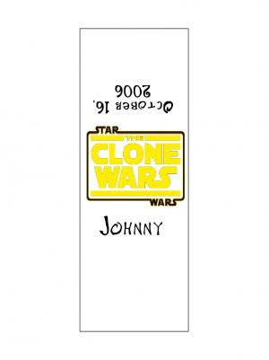 30 Birthday Party STAR WARS CLONE WARS Candy Bar Wrapper Hershey's Nugget Labels Party Favors