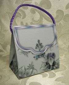 PURSE SHAPED Personalized Favor Gift Goodie Boxes for Showers, Birthdays or Weddings SET OF 6