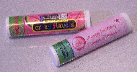 16 Pink Princess Lip Balm Chap Stick Wrapper Birthday party favor label Personalized