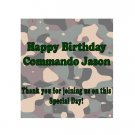 16 Camouflage Lip Balm Chap Stick Wrapper party favor label Personalized