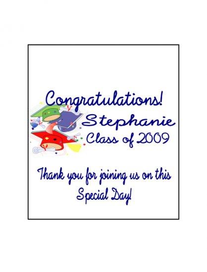 16 Graduation Lip Balm Chap Stick Wrapper party favor label Personalized