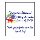 16 Graduation Lip Balm Chap Stick Wrapper party favor label Personalized