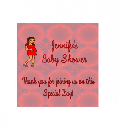 16 Baby Shower Lip Balm Chap Stick Wrapper party favor label Personalized