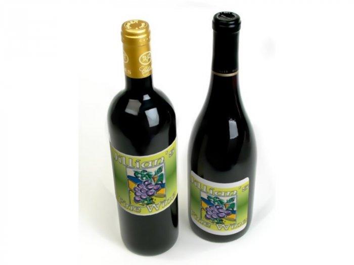 HOMEMADE Grape Wine Custom Bottle Labels 60 High Gloss Labels