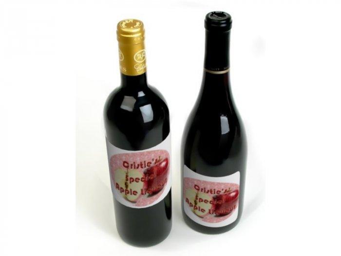 HOMEMADE Apple Liqueur Custom Bottle Labels 60 High Gloss Labels