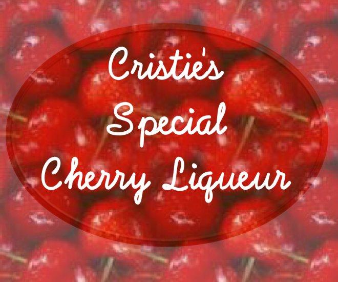 HOMEMADE Cherry Liqueur Custom Bottle Labels 60 High Gloss Labels