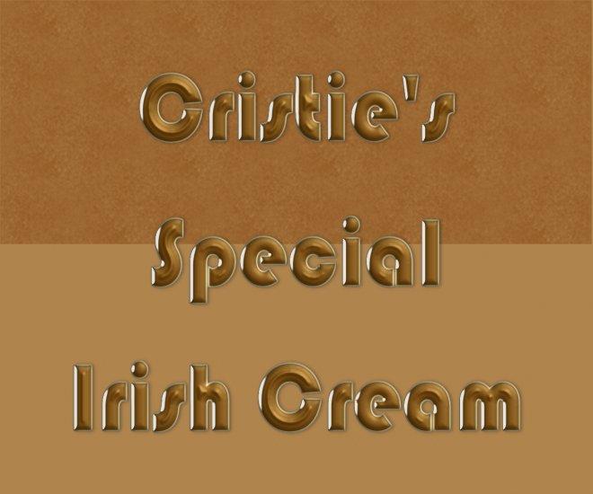 HOMEMADE Irish Cream Liqueur Custom Bottle Labels 60 High Gloss Labels