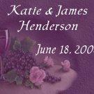 18 Wedding Wine Bottle labels Purple Reception Party Favors High Gloss Labels