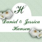 18 Wedding Wine Bottle labels White Lillies Reception Party Favors High Gloss Labels