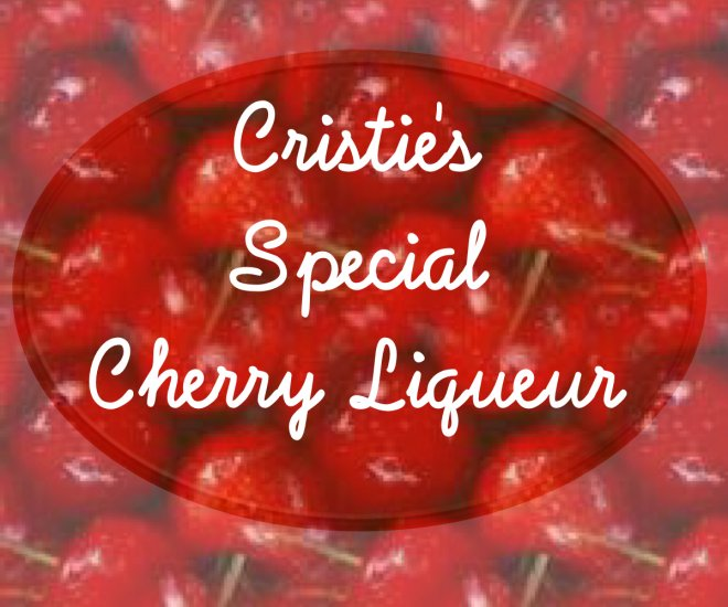 18 HOMEMADE Cherry Liqueur Custom Bottle Labels High Gloss Labels