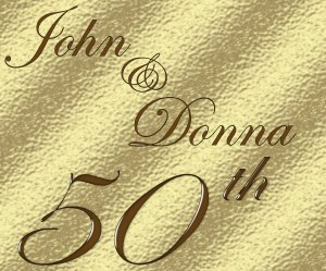 50th Golden Anniversar Wine Bottle labels Party Favors 60 High Gloss Labels