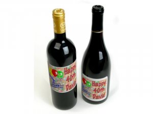Birthday Wine Bottle labels Party Favors 60 High Gloss Labels