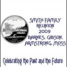 16 Family Reunion State Quarter Lip Balm Chap Stick Wrapper party favor label Personalized