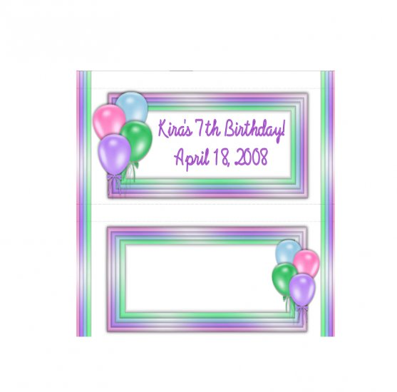 Candy Bar Box Favors Birthday Balloons Hershey bars PERSONALIZED Set of 6 Party Favors