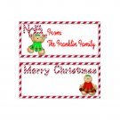Candy Bar Box Favors Christmas Holiday Hershey bars PERSONALIZED Set of 6 Party Favors