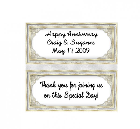 Candy Bar Box Favors GOLD  Frame Hershey bars PERSONALIZED Set of 6 Party Favors