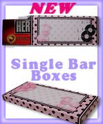 Candy Bar Box Favors RETRO PINK POODLE Hershey bars PERSONALIZED Set of 6 Party Favors