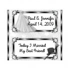 Candy Bar Box Favors WEDDING BRIDAL Hershey bars PERSONALIZED Set of 6 Party Favors