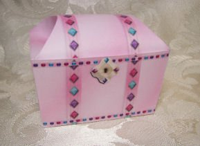 PINK TREASURE CHEST Birthday Favor Boxes  Party Favors Set of 6