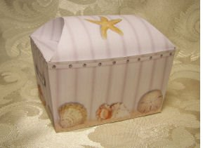 BEACH TREASURE CHEST Birthday Favor Boxes  Party Favors Set of 6