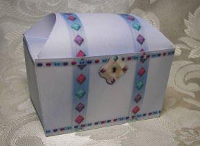 BLUE JEWEL TREASURE CHEST  Favor Boxes  Party Favors Set of 6