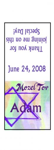 30 Personalized BAR MITZVAH BAT MITZVAH TIC TAC MINTS Wrappers Labels Party Favors