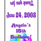 30 Personalized BIRTHDAY Balloons TIC TAC MINTS Wrappers Labels Party Favors