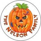 108 Pumpkin Halloween Hershey's Kiss Labels Party Favors #13