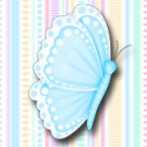 15 Hershey Miniatures Candy Bar Wrapper Labels Butterfly Birthday Party Favors