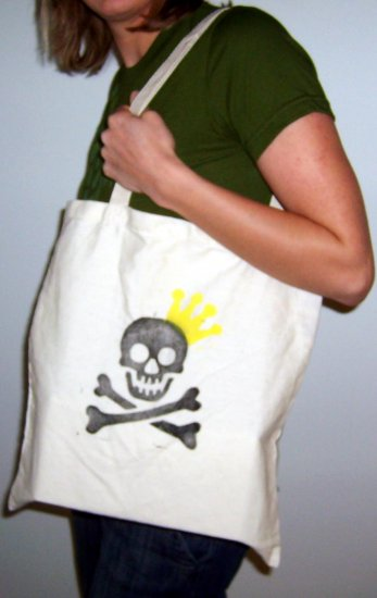 Skull Crown Shopper Bag