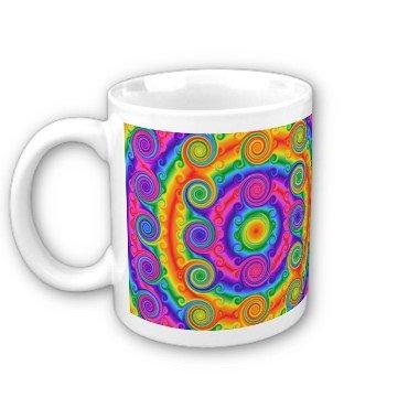 Abstract Colorful Swirls Coffee Mug Cup