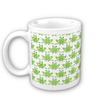 Green Frogs Coffee Mug Cup