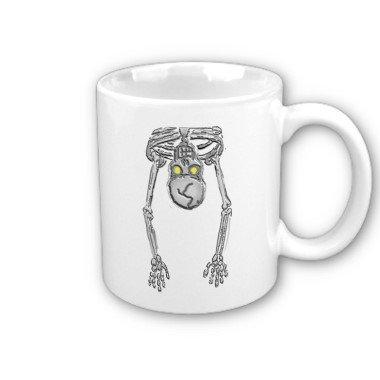 Funny Halloween Skeleton Coffee Mug Cup