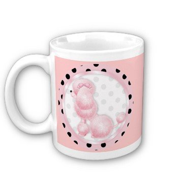 PINK POODLE Retro Coffee Mug Cup