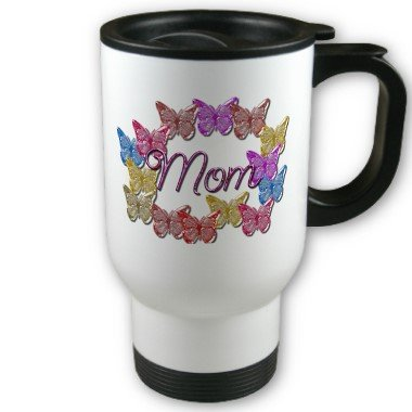 Mom Mother's day Travel Coffee Mug Cup Stainless Aluminum
