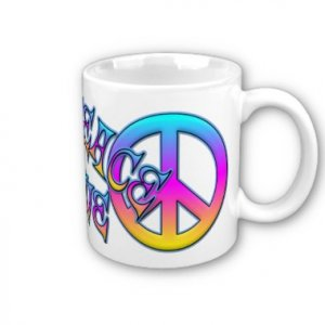 Retro Peace sign Coffee Mug Cup