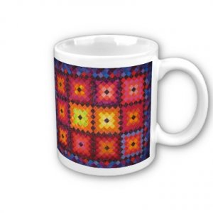 Quilt Design Coffee Mug Cup