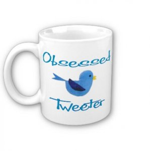 Twitter Obsessed Design Coffee Mug Cup