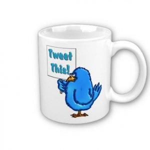 Twitter Design Coffee Mug Cup Tweet This