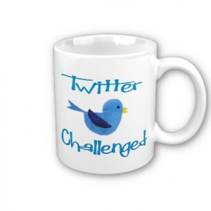 Twitter Challenged Design Coffee Mug Cup