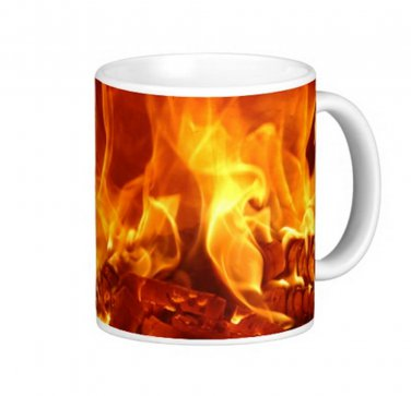 Camp Fire Photo Gift Coffee Mug Cup