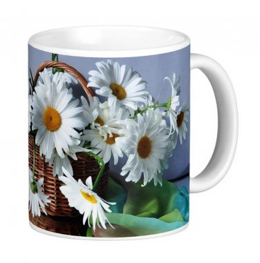 Daisies Flower Floral Photo Gift Coffee Mug Cup