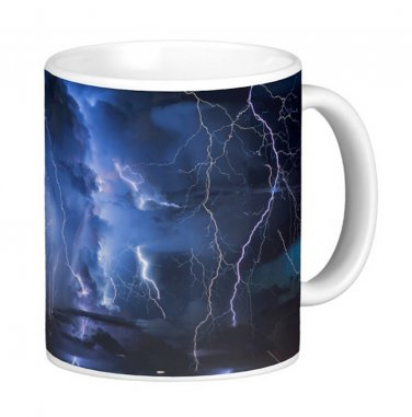 Lightening Storm Photo Gift Coffee Mug Cup