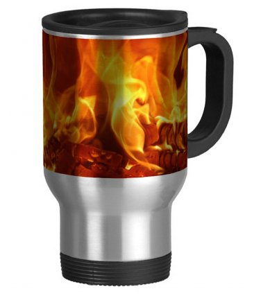 Camp Fire Travel Coffee Mug Cup Stainless Aluminum
