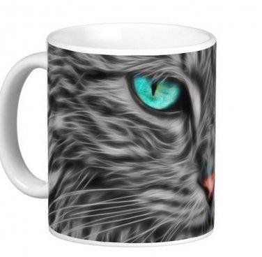 Blue Eyed Cat Kitten Pet Photo Gift Coffee Mug Cup