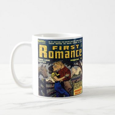 Vintage Romance Love Comic Book Design Coffee Mug Cup