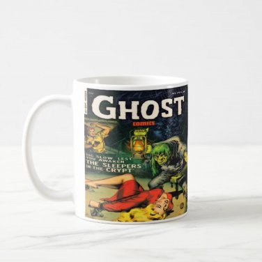 Vintage Horror Comic Book Design Coffee Mug Cup