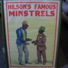 Black Americana - Hilson&#39;s Famous Minstrels Poster - Framed - AUTHENTIC, NOT A REPRINT