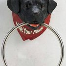 Black Lab Towel Ring